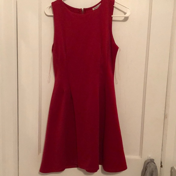 Charlotte Russe Dresses & Skirts - Red Flair Dress